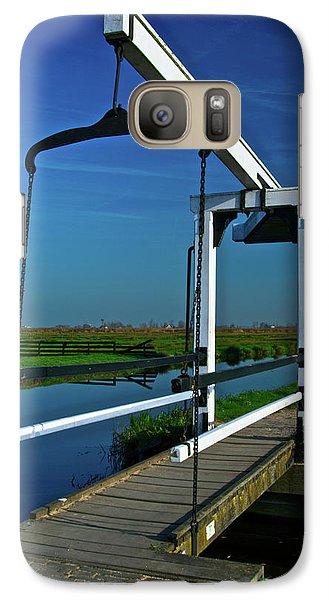 Galaxy Case featuring the photograph Drawbridge At Zaanse Schans by Jonah  Anderson