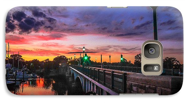 Galaxy Case featuring the photograph Drawbridge Sundown  by Glenn Feron