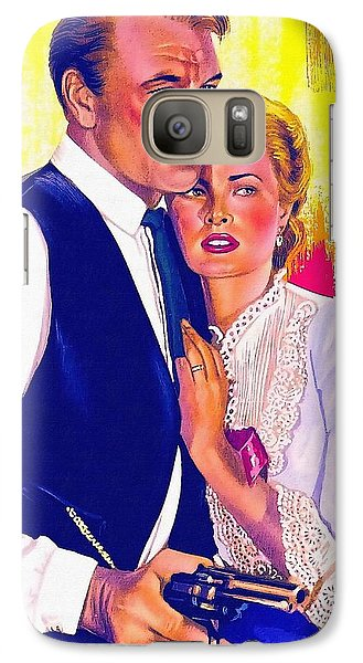 Drawing Of High Noon Galaxy S7 Case by Art Cinema Gallery