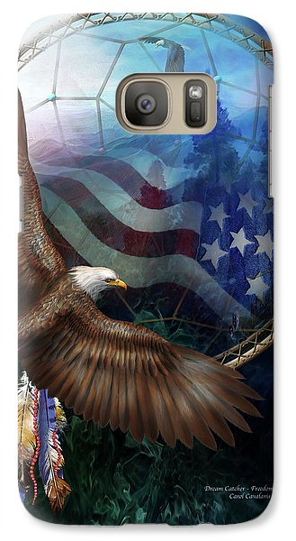 Dream Catcher - Freedom's Flight Galaxy S7 Case by Carol Cavalaris