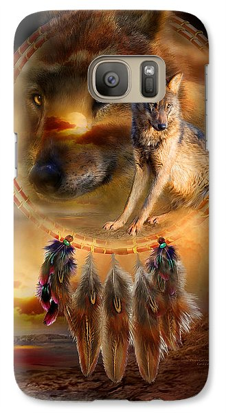 Wolves Galaxy S7 Case - Dream Catcher - Wolfland by Carol Cavalaris