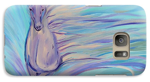 Galaxy Case featuring the painting Dreamer by Stacey Zimmerman