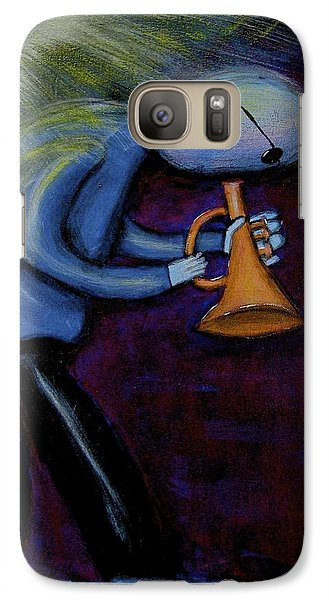 Galaxy Case featuring the painting Dreamers 99-001 by Mario Perron