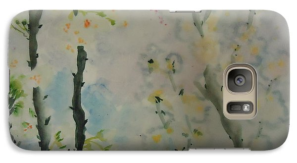 Galaxy Case featuring the painting Dreamflower005 by Dongling Sun