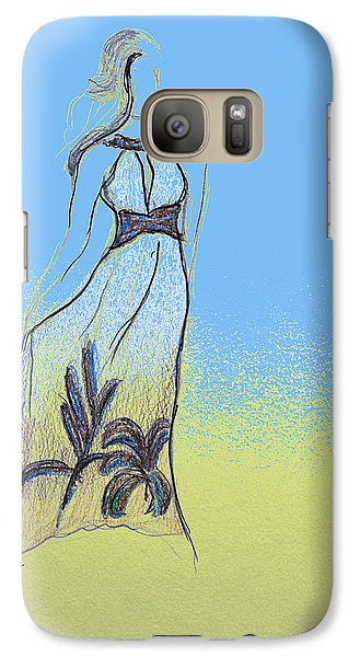 Galaxy Case featuring the drawing Dreamgirl by Sladjana Lazarevic