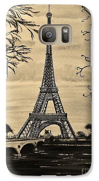 Galaxy Case featuring the painting Dreaming Of Paris 2 by Brigitte Emme