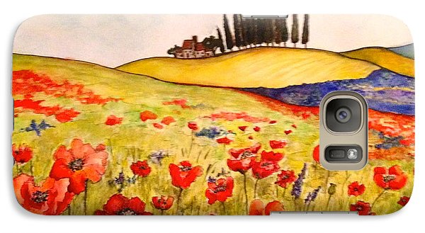 Galaxy Case featuring the painting Dreaming Of Tuscany by Rae Chichilnitsky