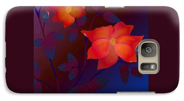 Galaxy Case featuring the digital art Dreaming Wild Roses by Latha Gokuldas Panicker