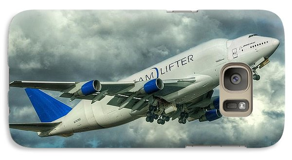 Galaxy Case featuring the photograph Dreamlifter Takeoff by Jeff Cook
