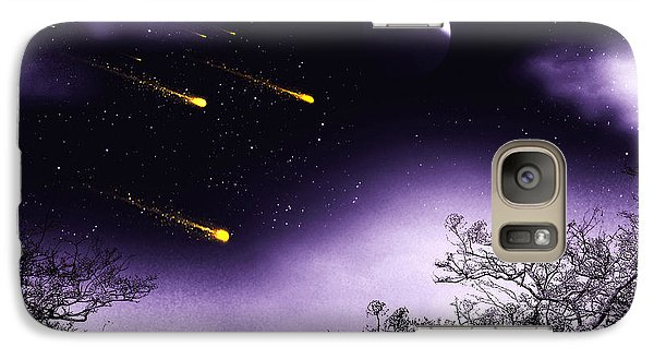 Galaxy Case featuring the painting Dreams Come True by Persephone Artworks
