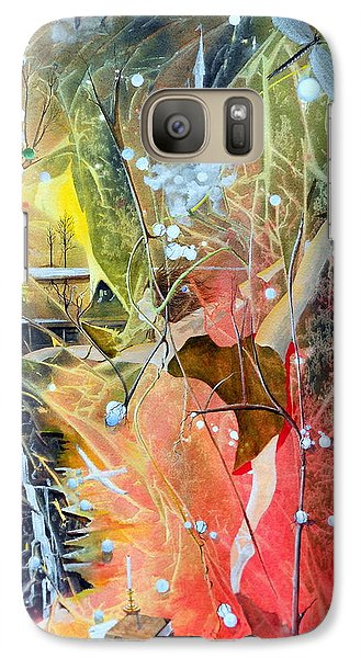 Galaxy Case featuring the painting Dreamscape Of Aaralyn by Jackie Mueller-Jones