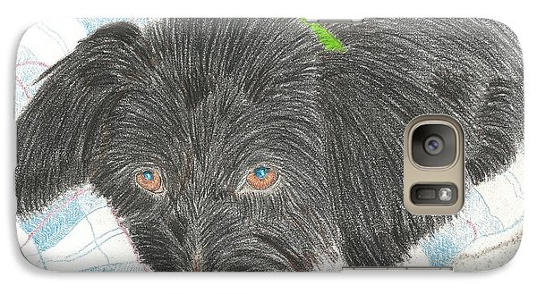 Galaxy Case featuring the drawing Dreamy Della - Pencil by Sheila Byers