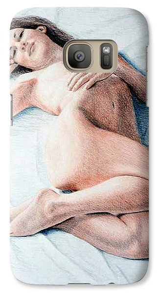 Galaxy Case featuring the drawing Dreamy by Joseph Ogle