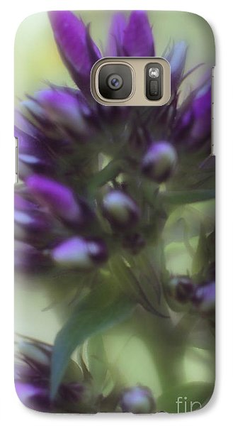 Galaxy Case featuring the photograph Dreamy Lavendar Buds by Mary Lou Chmura