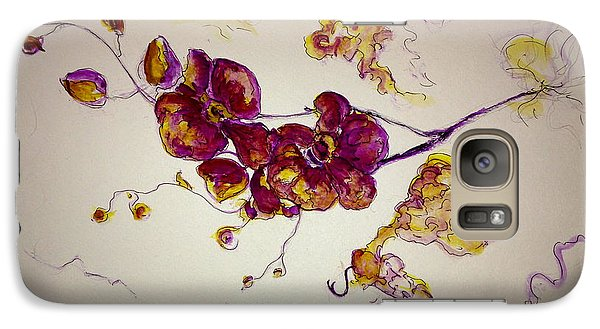 Galaxy Case featuring the painting Dreamy Orchid by Rae Chichilnitsky
