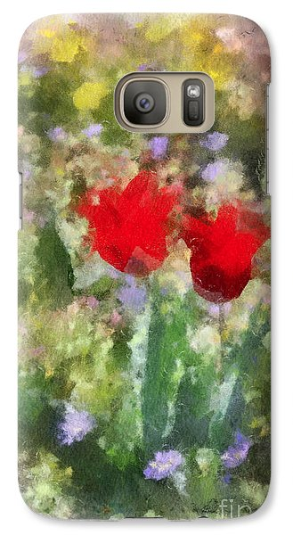 Galaxy Case featuring the painting Dressed In Red  by Kerri Farley