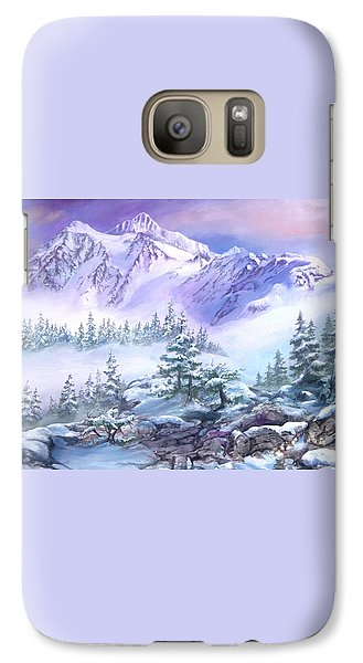 Galaxy Case featuring the painting Dressed In White Mount Shuksan by Sherry Shipley