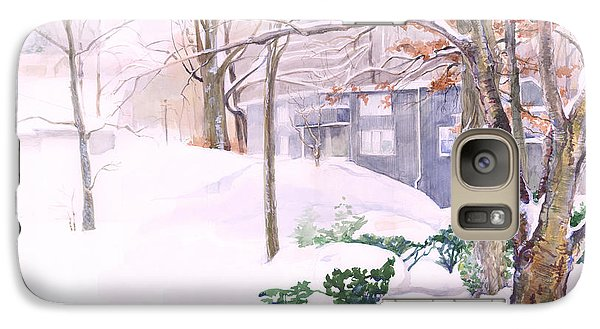 Galaxy Case featuring the painting Dressed In Winter White by Nancy Watson
