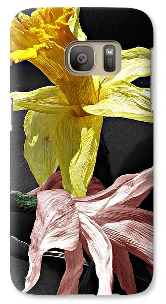 Galaxy Case featuring the photograph Dried Daffodils by Nina Silver