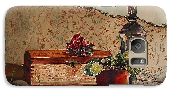 Galaxy Case featuring the painting Dried Flowers by Joy Nichols