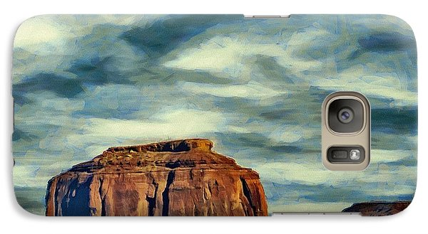 Galaxy Case featuring the painting Drifting Over Monument Valley by Jeff Kolker