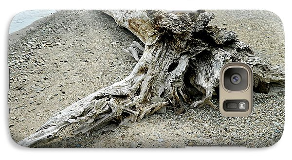 Galaxy Case featuring the photograph Driftwood At Lake Erie by Kathy Barney