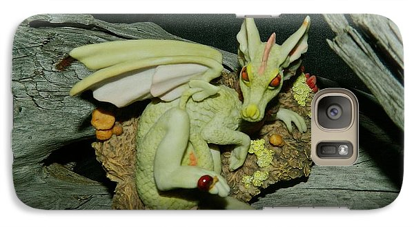 Galaxy Case featuring the photograph Driftwood Dragon by Randy Rosenberger