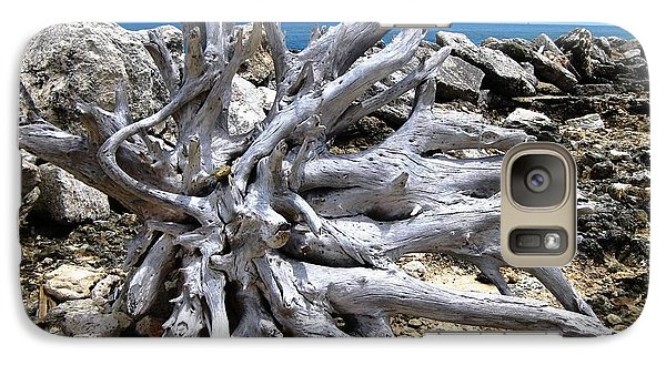 Galaxy Case featuring the photograph Driftwood by Judy Palkimas