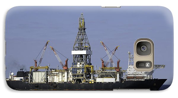 Drill Ship In Blue Ocean Galaxy S7 Case