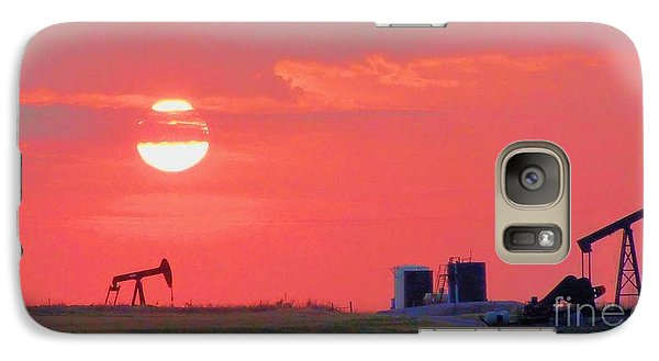 Galaxy Case featuring the photograph Rising Full Moon In Oklahoma by Janette Boyd