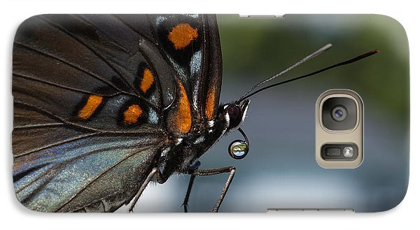 Galaxy Case featuring the photograph Drinking Dew Drops 1 by David Lester