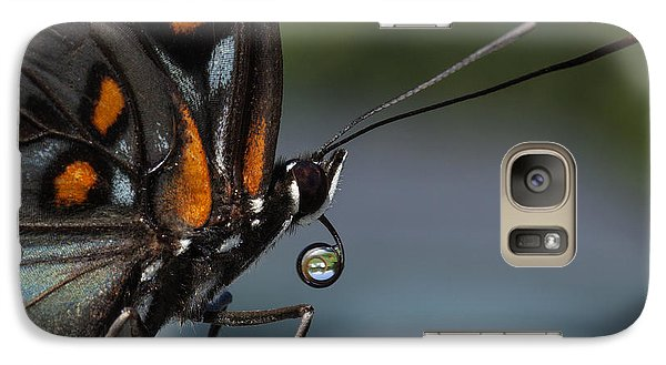 Galaxy Case featuring the photograph Drinking Dew Drops 3 by David Lester