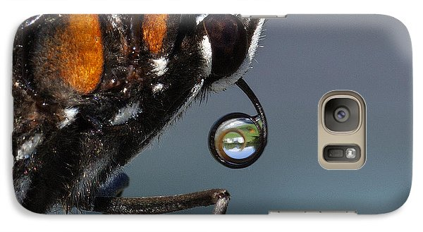 Galaxy Case featuring the photograph Drinking Dew Drops 4 by David Lester