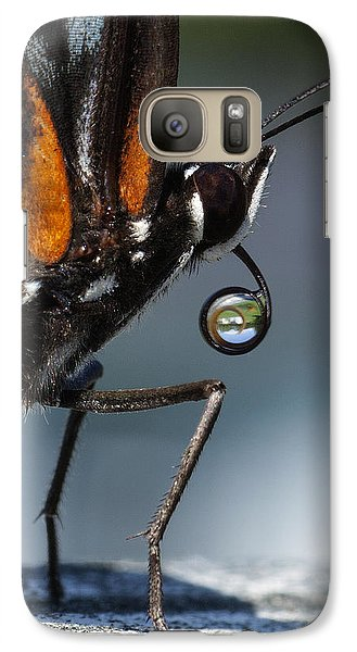 Galaxy Case featuring the photograph Drinking Dew Drops 6 by David Lester