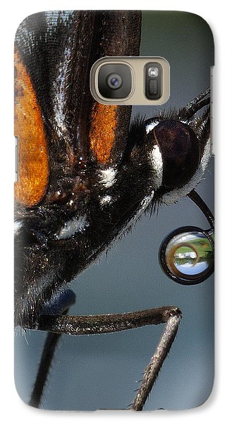 Galaxy Case featuring the photograph Drinking Dew Drops 7 by David Lester