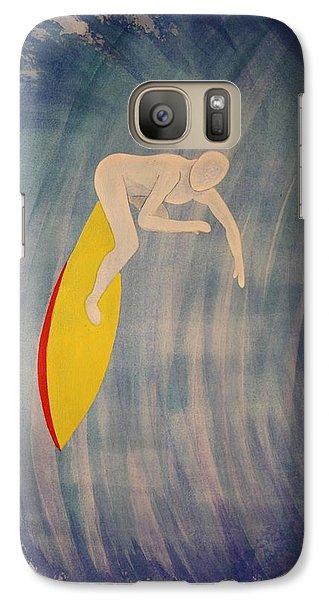 Galaxy Case featuring the painting Drop In by Paul Amaranto