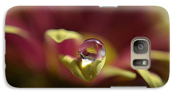 Galaxy Case featuring the photograph Drop On Petal by Michelle Meenawong