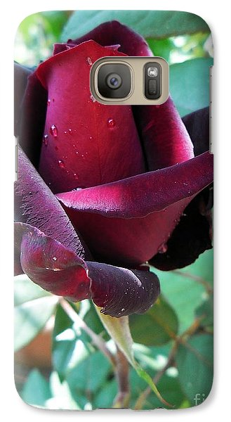 Galaxy Case featuring the photograph Droplets On The Petals by Vesna Martinjak