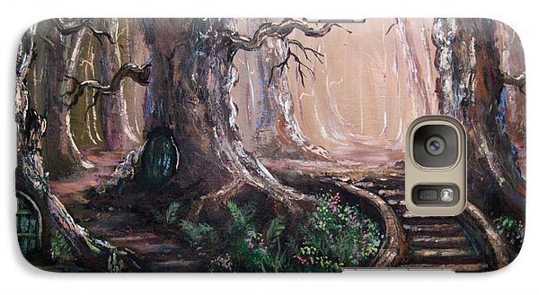 Galaxy Case featuring the painting Druid Walk by Megan Walsh