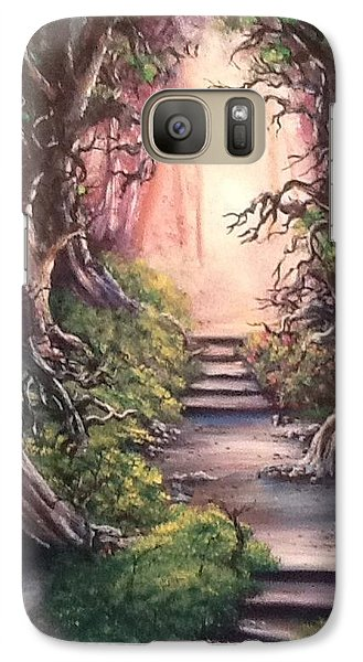 Galaxy Case featuring the painting Druid's Walk by Megan Walsh