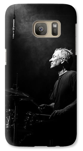 Drum Galaxy S7 Case - Drummer Portrait Of A Muscian by Bob Orsillo