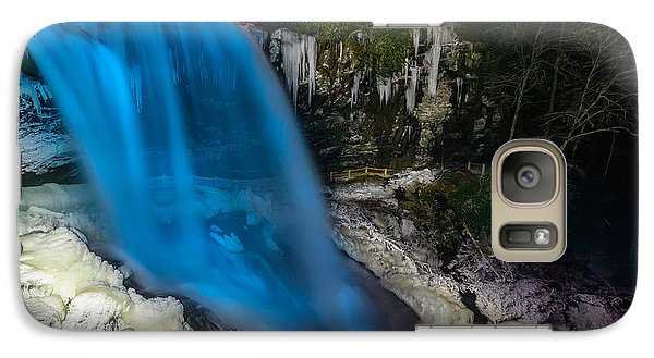 Galaxy Case featuring the photograph Dry Falls At Night by Serge Skiba