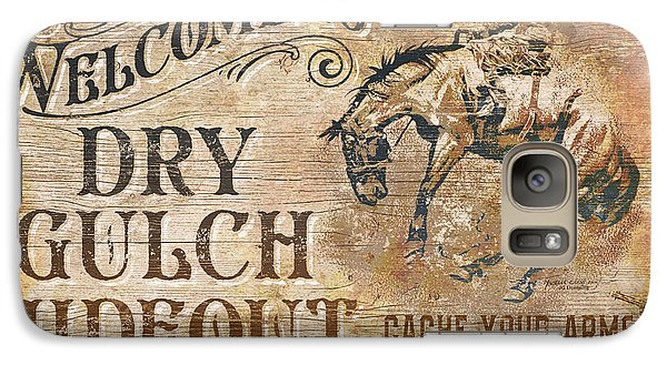 Galaxy Case featuring the painting Dry Gulch Hideout by JQ Licensing