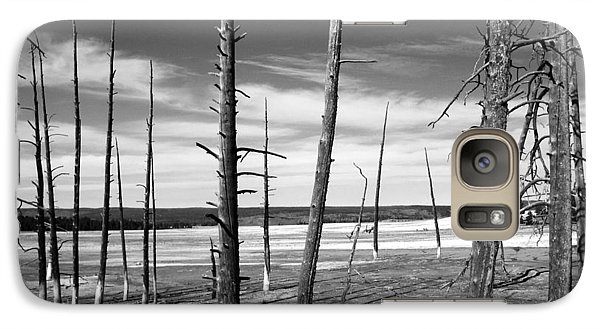 Galaxy Case featuring the photograph Dry Lake Bed by Tarey Potter