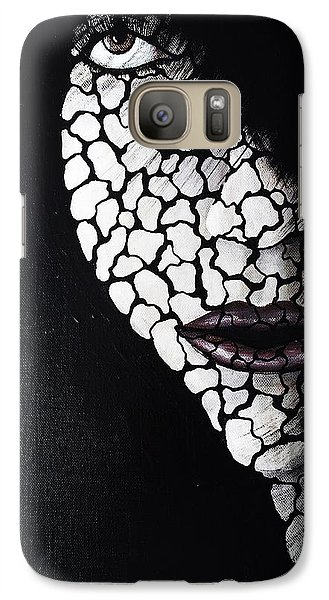 Galaxy Case featuring the painting Dryness by Edwin Alverio
