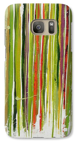 Galaxy Case featuring the painting D.s. Color Band Skinny by Kathy Sheeran