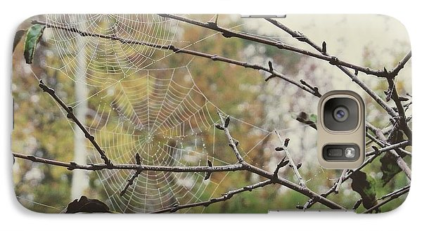 Galaxy Case featuring the photograph Dual Webs by Nikki McInnes