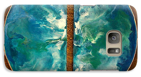 Galaxy Case featuring the painting Duality by Carolyn Goodridge