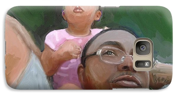 Galaxy Case featuring the painting Duane by Vannetta Ferguson