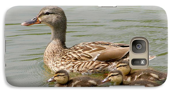 Galaxy Case featuring the photograph Duck Family by Bob and Jan Shriner